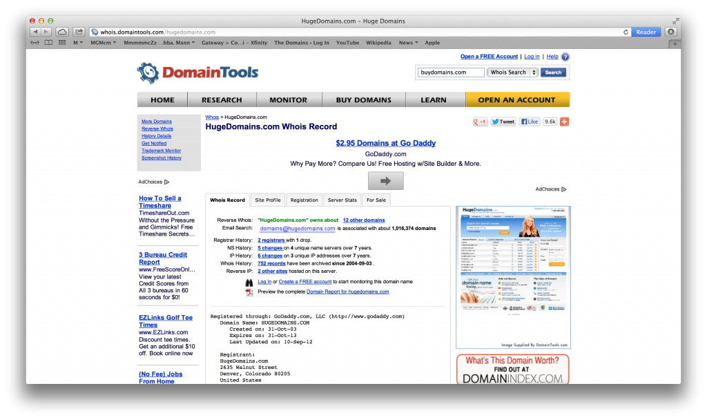 buydomains hugedomains domain holder domains largest passes million become private owned privately passed
